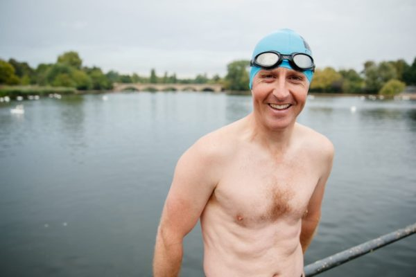 Image 5 Captain Harry Grantham before an early morning training swim